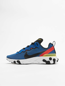 Nike React Element 55 Sneakers Pumice/Black/White/Blue Chill