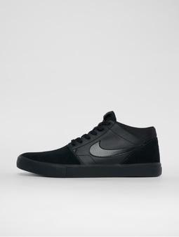 Nike Sb Solarsoft Portmore Ii Mid Skateboarding Sneakers Black/Black/Black/Anthracite