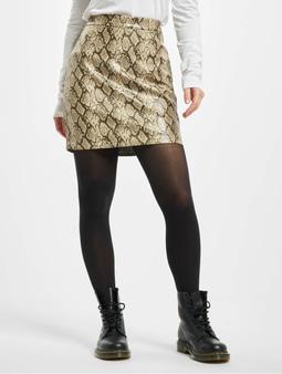 Noisy May nmAllan Snake PU Skirt Black