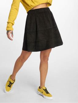 Noisy May nmLauren Fake Suede Skirt Black