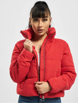 Only onlDina Short Quilted Puffer Jacket Chinese Red
