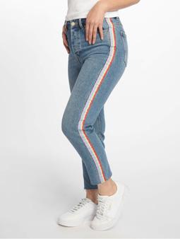 Only onlEmily High Waist Straight Rib Jeans Medium Blue Denim