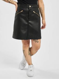 Only onlHeidi Faux Leather Skirt Black