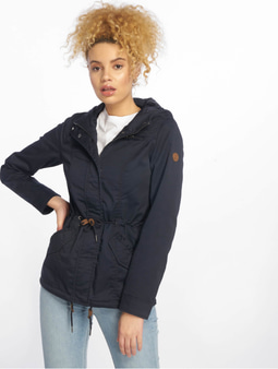 Only onlNew Lorca Spring Canvas Parka Blue Graphite
