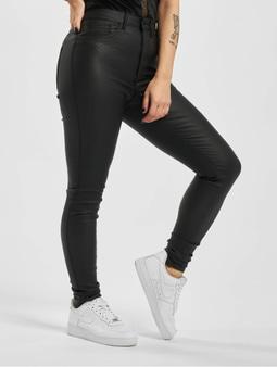 Only onlRoyal NOS SK Rock Coated Pim High Waist Jeans Black