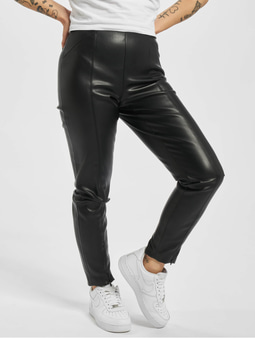 Only onlTea-Miri Mw Faux Leather Leggings Black