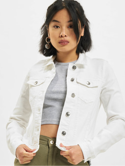 Only onlTia Regular Colour Denim Jacket White