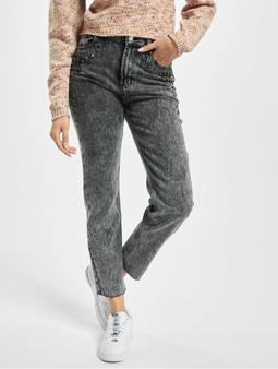 Only onlWild Emily High Waist Acid Ankle Mom Jeans Grey Denimwash:acid