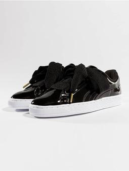 Puma Basket Heart Patent Sneakers Puma White