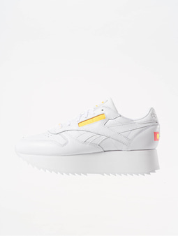 Reebok Classic Leather Double Sneaker White/Nean Red/Black