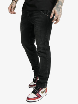 Sik Silk Cut Recycled Denim Straight Fit Jeans Black