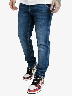 Sik Silk Cut Recycled Denim Straight Fit Jeans Midstone