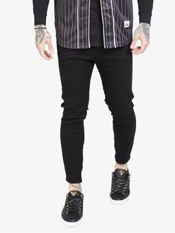 Sik Silk Drop Crotch Straight Fit Jeans Black