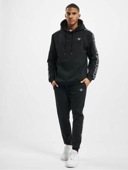 Sik Silk Fleece Overhead Hoody Sweat Suit Black