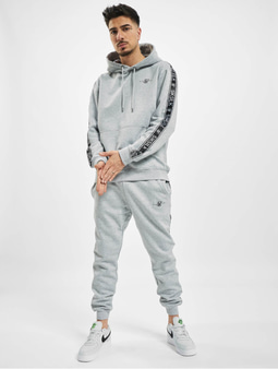 Sik Silk Fleece Overhead Hoody Sweat Suit Grey