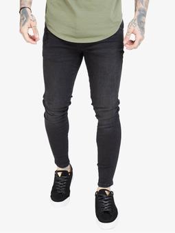 Sik Silk Skinny Jeans Washed Black