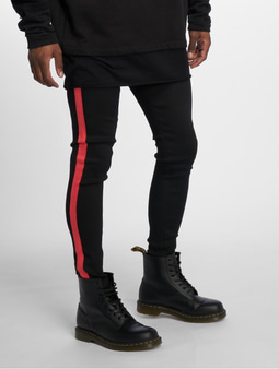 Sixth June Denim With Bands Skinny Jeans Black/Red