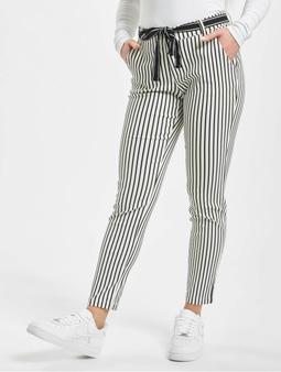 Stitch & Soul Chino Pants Black/White Stripes