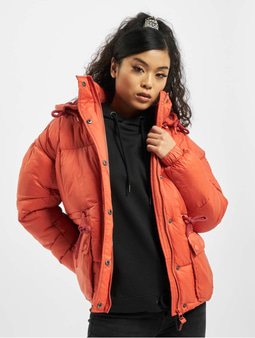 Stitch & Soul Puffer Jacket Mango Red