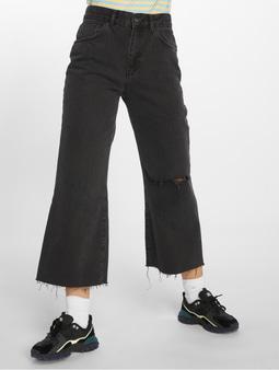 The Ragged Priest Graze Butt Cut High Waist Jeans Charcoal