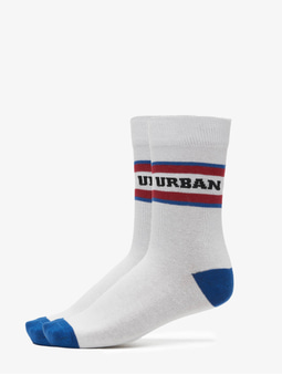Urban Classics Logo Stripe Sport Socks White/Green/Red