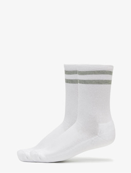 Urban Classics 2-Pack Stripe Sport Socks White/Black