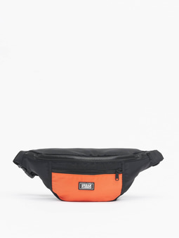 Urban Classics 2-Tone Shoulder Bag Black/Orange