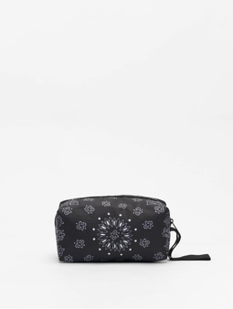 Urban Classics Bandana Print Cosmetic Pouch Black