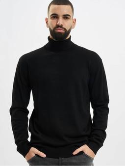 Urban Classics Basic Turtleneck Sweatshirt Black