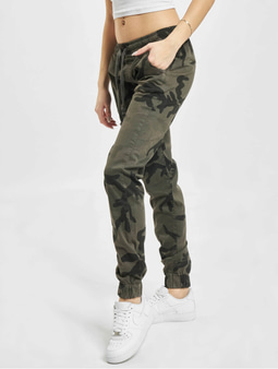Urban Classics Camo Sweat Pants Olive Camo