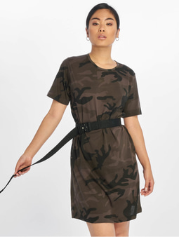 Urban Classics Camo T-Shirt Dress Dark Camo