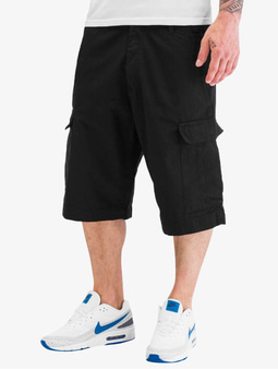 Urban Classics Camouflage Cargo Shorts Black (W 28 black)