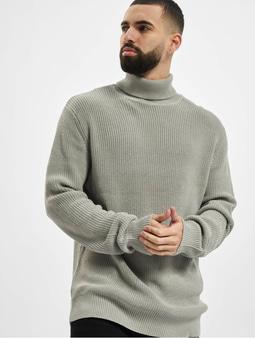 Urban Classics Cardigan Stitch Roll Neck Sweater Grey