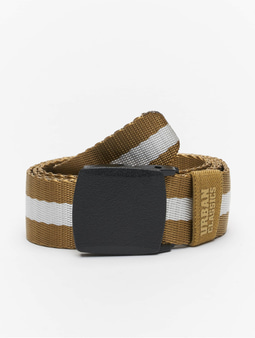 Urban Classics Centre Stripe Belt Beige