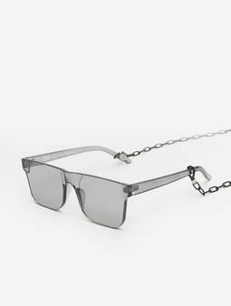 Urban Classics Chain Sunglasses Black/Transparent
