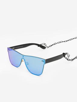 Urban Classics Chain Sunglasses Blk/Blue