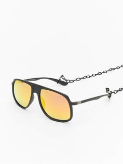 Urban Classics Chain Sunglasses Retro Sunglasses 107 Black/Yellow