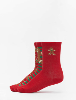 Urban Classics Christmas Gingerbread Lurex 3-Pack Socks Multicolor