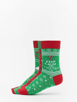 Urban Classics Christmas Lama 3-Pack Socks Multicolor