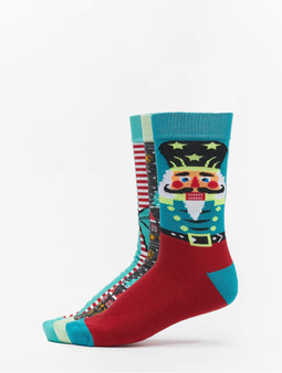 Urban Classics Christmas Nutcracker 3-Pack Socks Multicolor