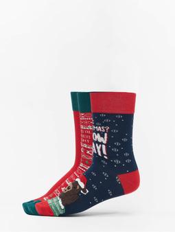 Urban Classics Christmas Socks Set Bear Multicolor