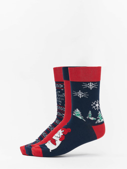 Urban Classics Christmas Socks Set Icebear Multicolor