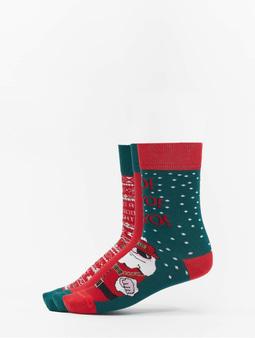 Urban Classics Christmas Socks Set Santa Multicolor