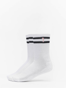 Urban Classics Christmas Sporty Socks Set White/Black