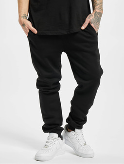 Urban Classics Contrast Drawstring Sweat Pants Black