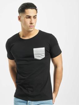 Urban Classics Contrast Pocket T-Shirt Black/Aztec