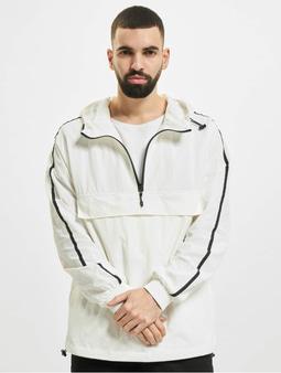 Urban Classics Crinkle Nylon Jacket White/Black