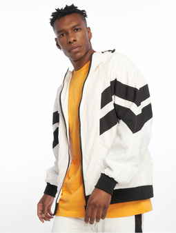 Urban Classics Crinkle Panel Track Jacket Black/White