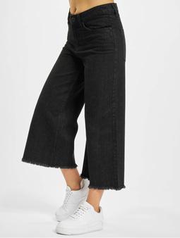 Urban Classics Denim Culotte Black Washed