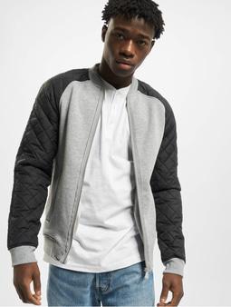 Urban Classics Diamond Nylon Sweat Jacket Grey/Black